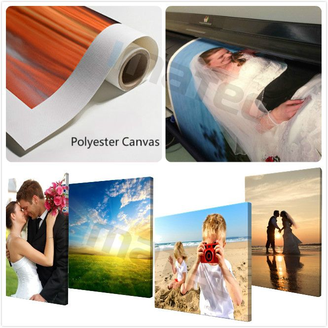 Printable Polyester Canvas Rolls Matte Commercial Art Photo Canvas