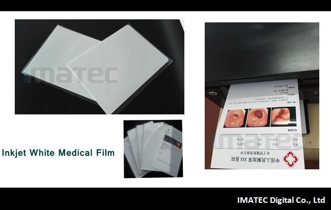 White Medical Imaging Film , Opaque Inkjet Medical PET X - ray Film