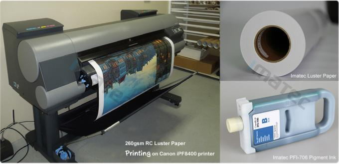 Wide Format Premium Luster Photo Paper 260 , Pigment Photo Resin Coated Paper