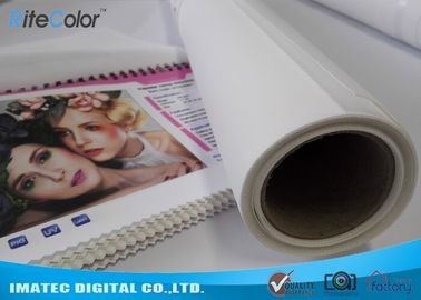 چین Photographic Polyester Canvas Rolls 280gsm , Digital Printing Pure Polyester Fabric کارخانه