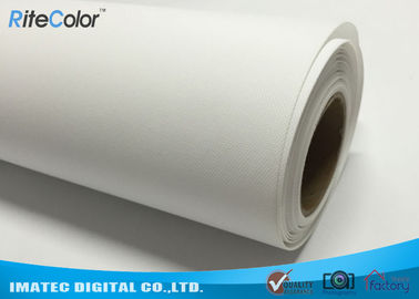 Bright White Stretched Matte Canvas Roll 260gsm Polyester Print Fabric