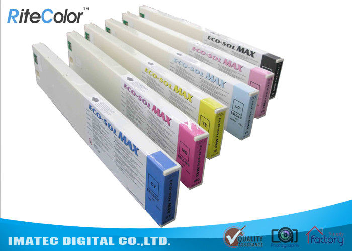 Odorless Wide Format Inks , 440ML Eco Sol Max Ink Cartridges With Chips تامین کننده