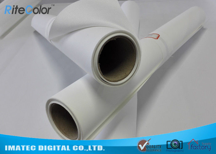 White Inkjet Polyester Canvas Rolls , Polyester Inkjet Stretched Canvas Prints