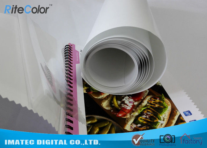Eco Solvent PP Synthetic Paper , Adhesive Matte Polypropylene Film Rolls تامین کننده