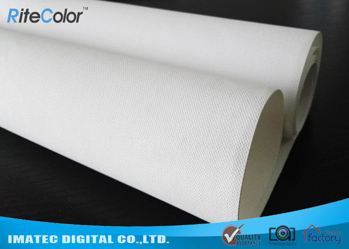 "44 "" Wide Format Waterproof Inkjet Cotton Canvas Glossy Printing for Poster"