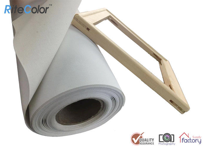 Inkjet Canvas Rolls, Waterproof Matte Polyester Canvas Roll 260gsm for Pigment Inks
