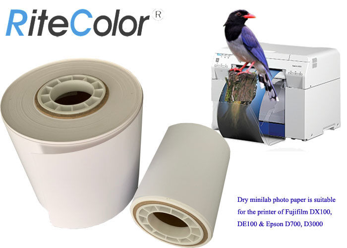 "Inkjet 4"" 5"" 6"" X 65M Glossy Dry Lab Photo Paper Roll For Fuji DX100 / DE100 / Epson D700 / D3000"